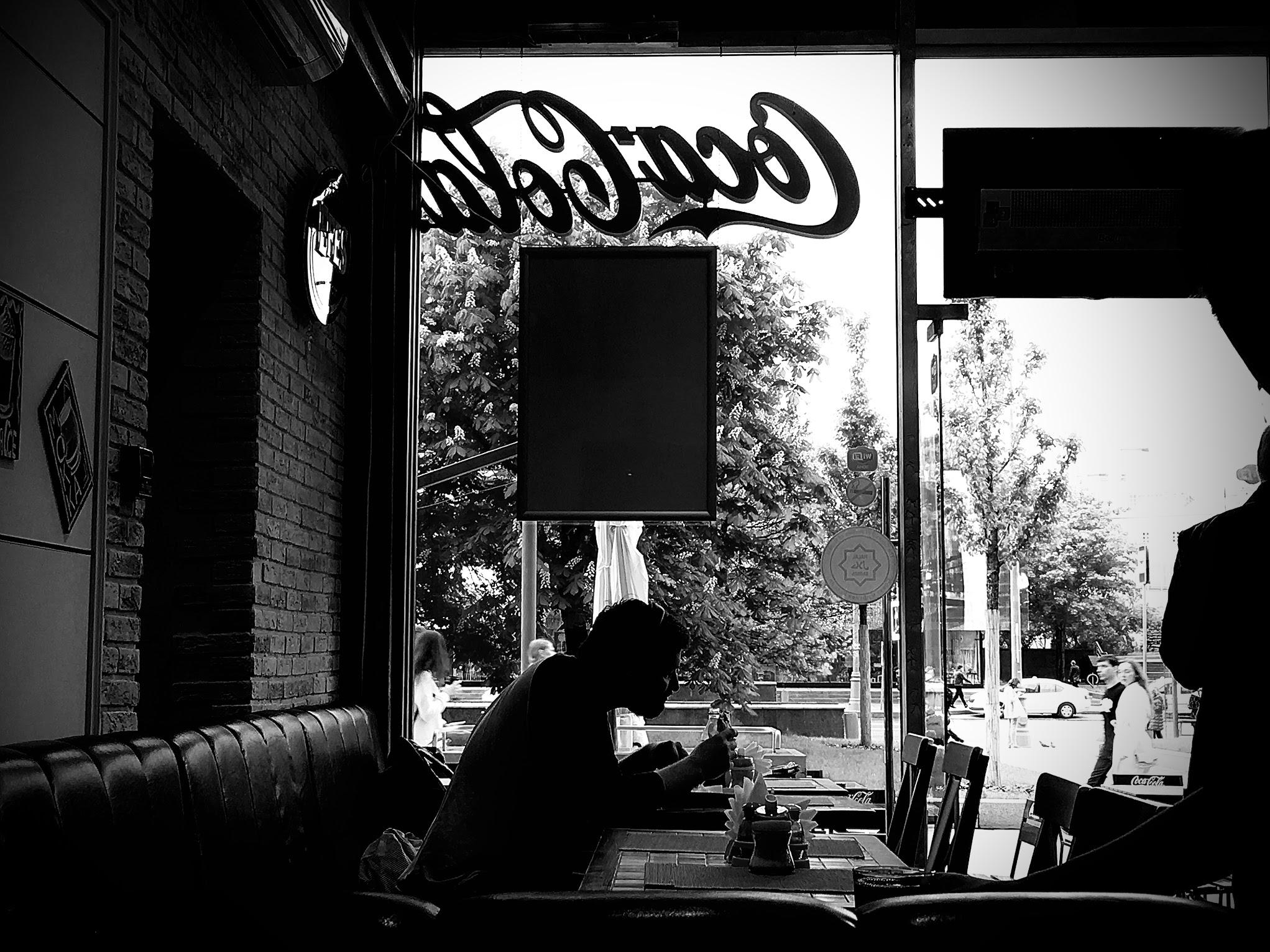 Una cafetería en el centro de Moscú.