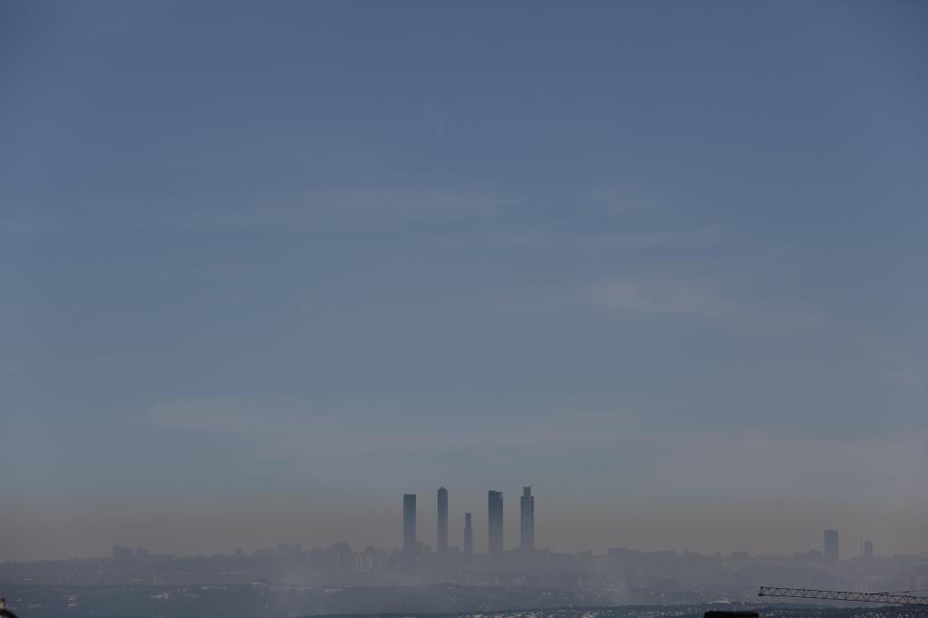 'Boina' de contaminación sobre Madrid en enero de 2021
