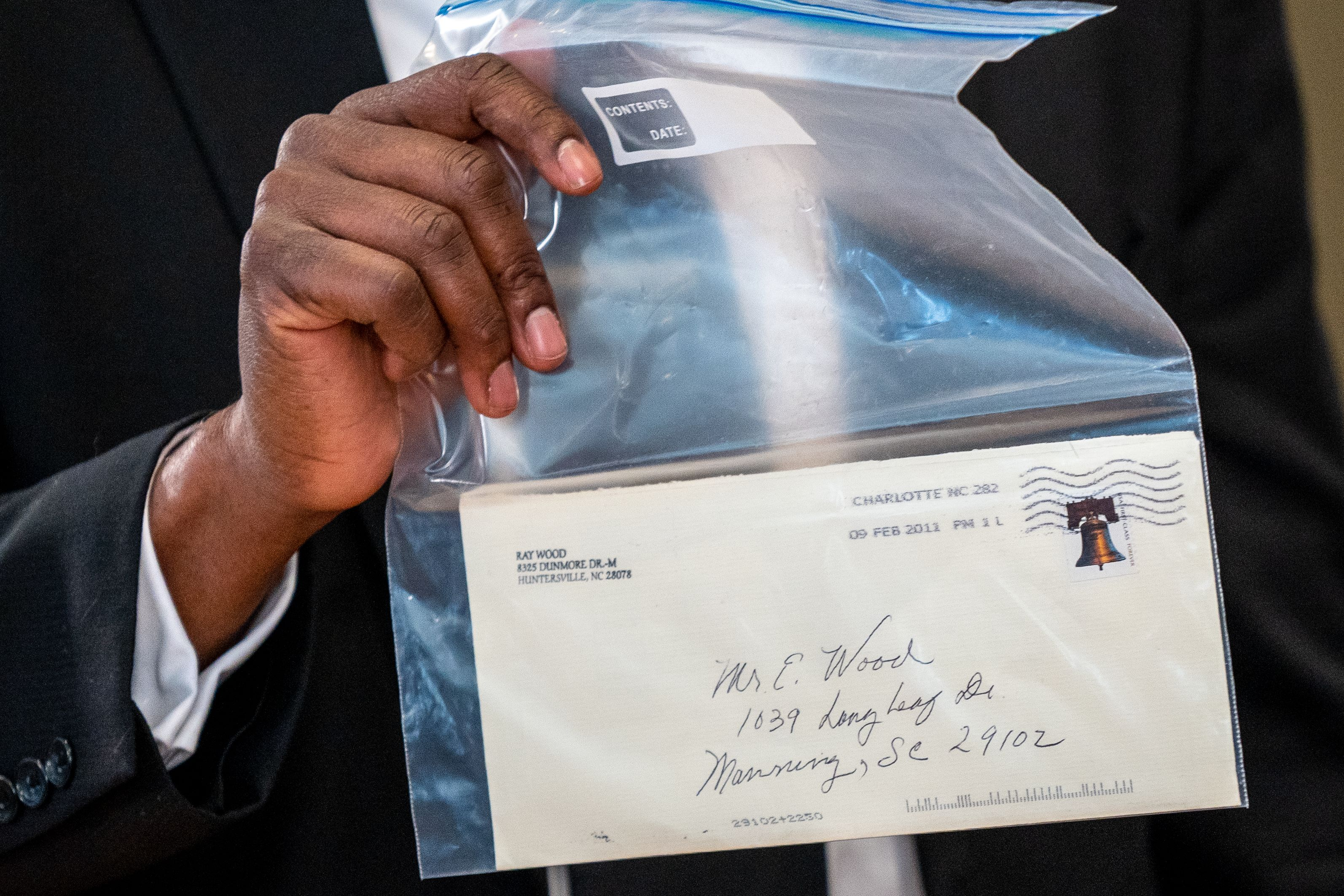 La carta con la confesión.