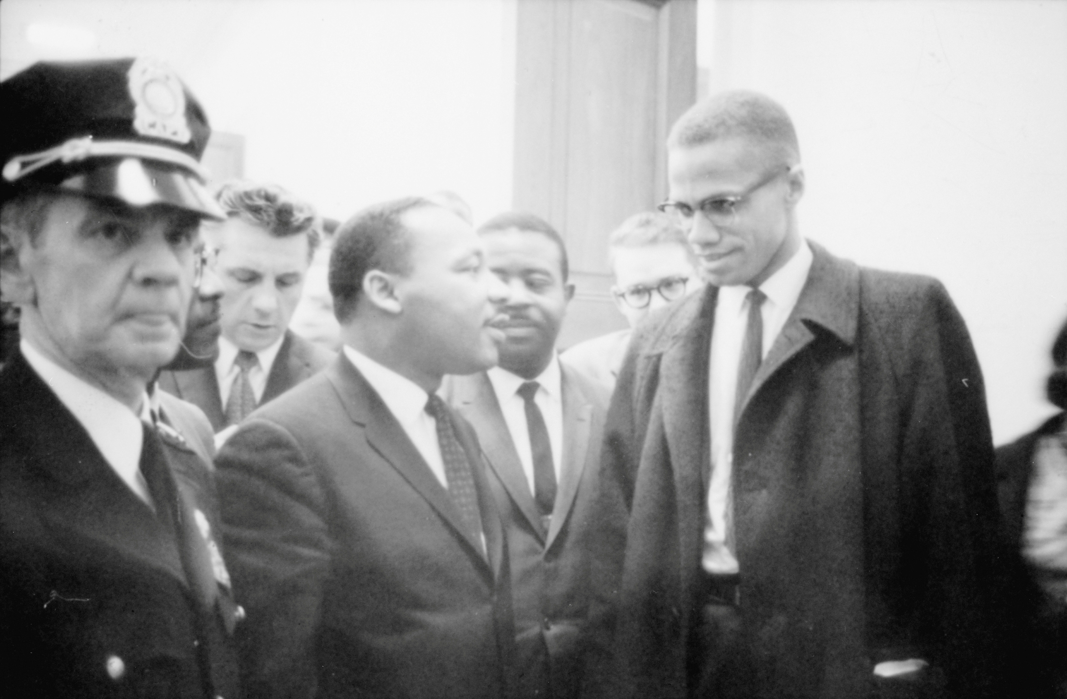Martin Luther King Jr. y Malcolm X, en una imagen de 1964.