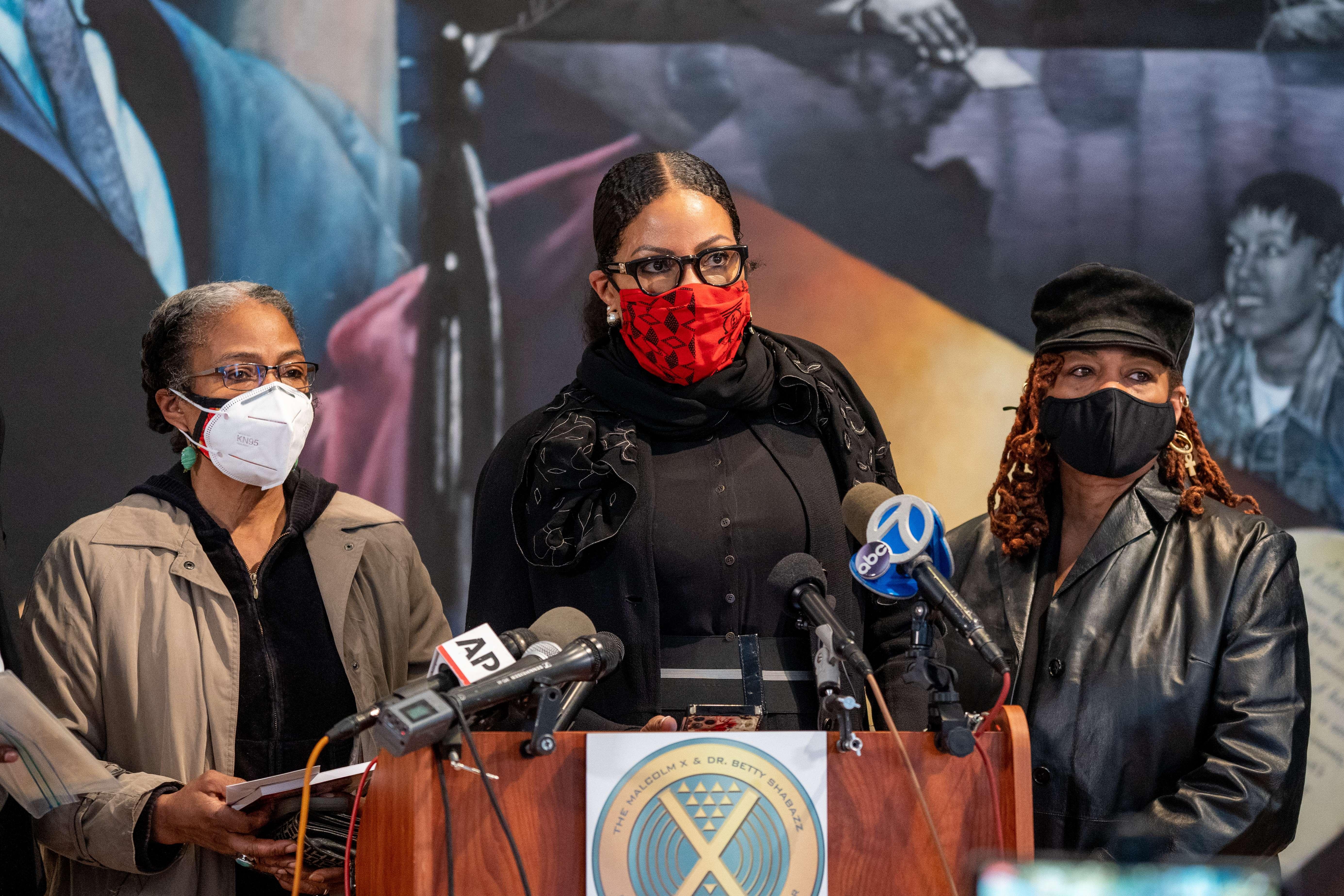 Las hijas de Malcolm X.