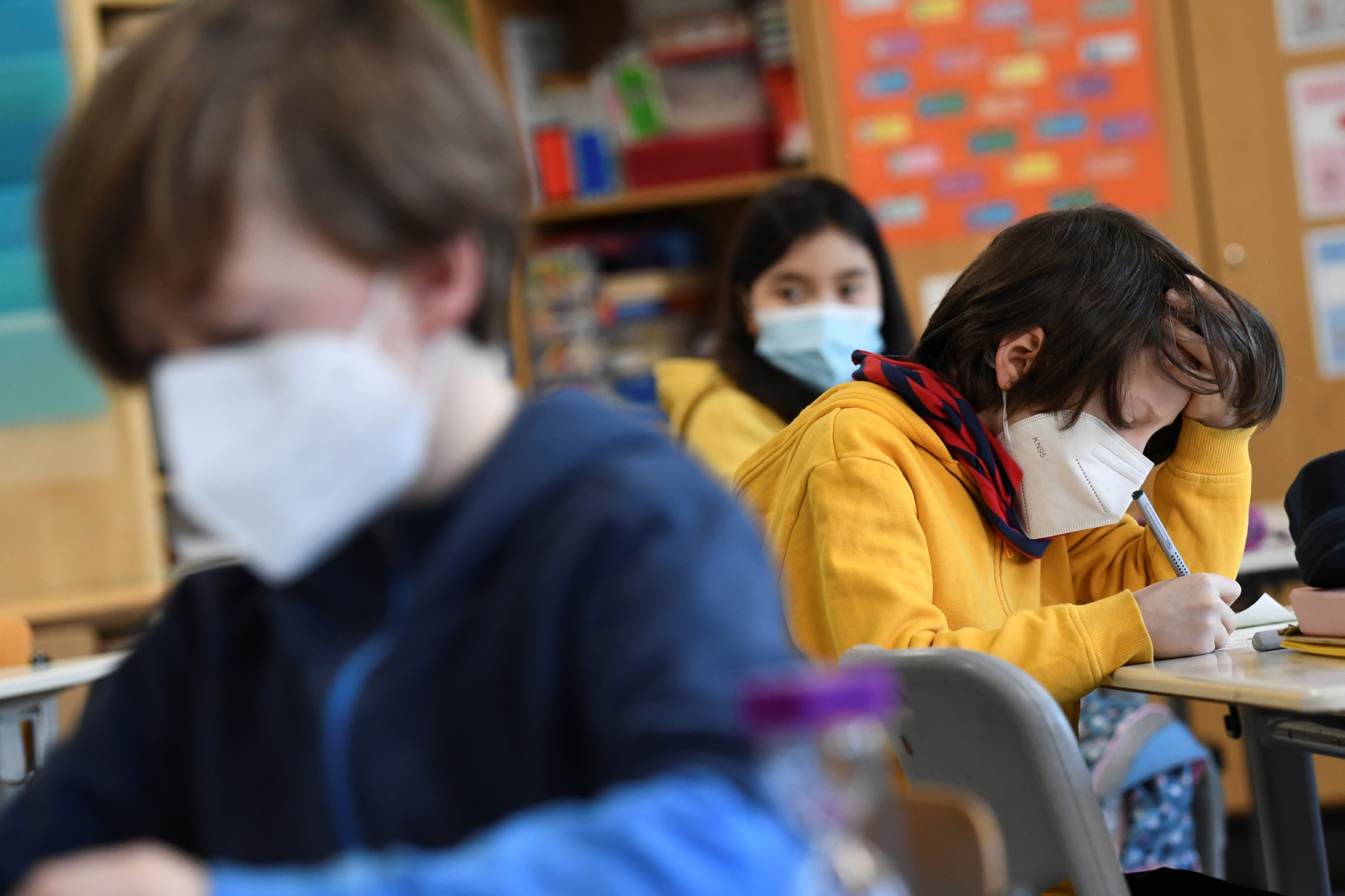 Niños en la escuela elemental Gustav-Falke, hoy, en Berlín.