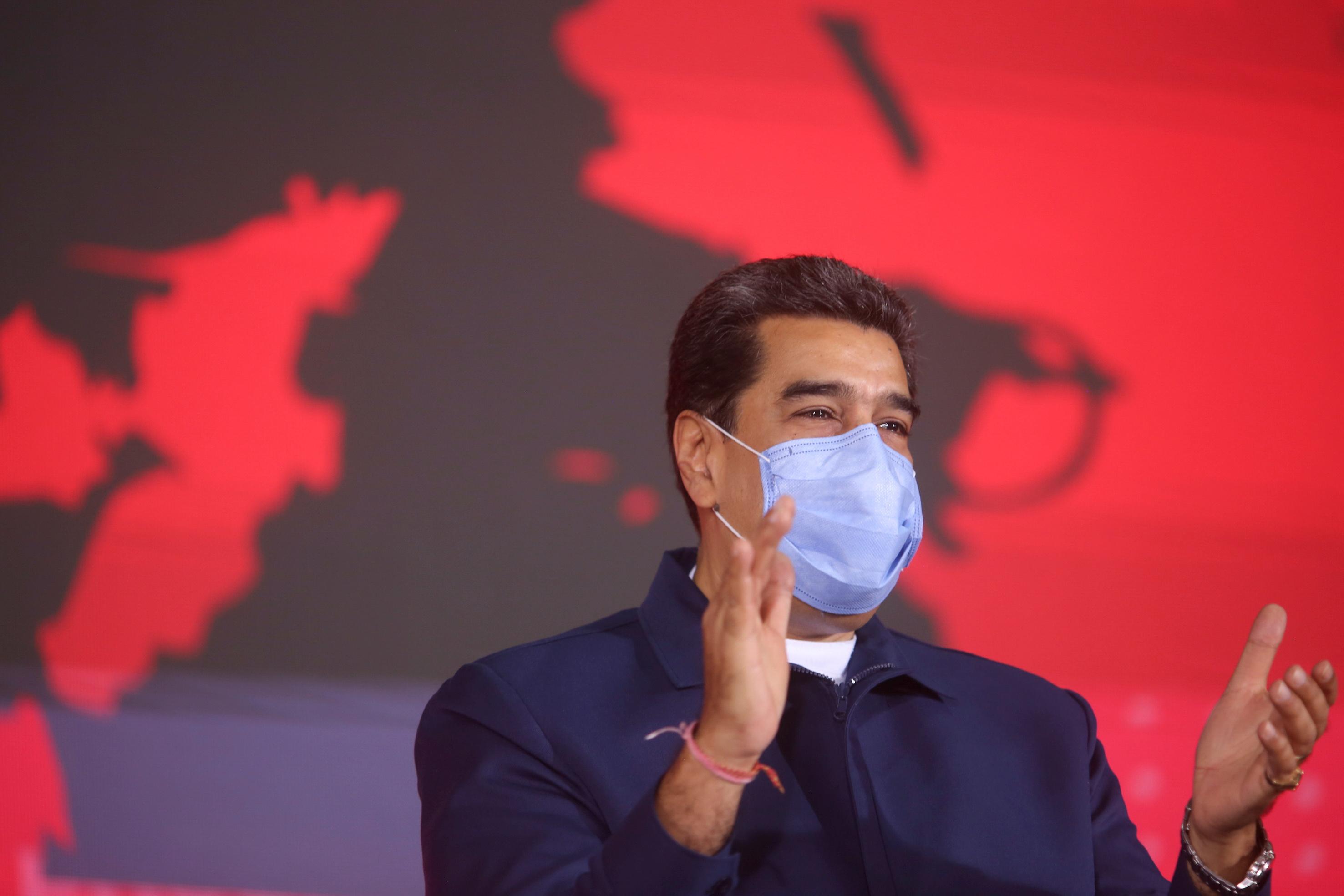 Nicolás Maduro, durante un acto en la sede de PDVSA, en Caracas.