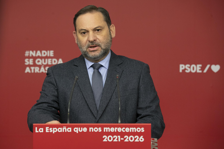 José Luis Ábalos, durante la rueda de prensa este lunes.