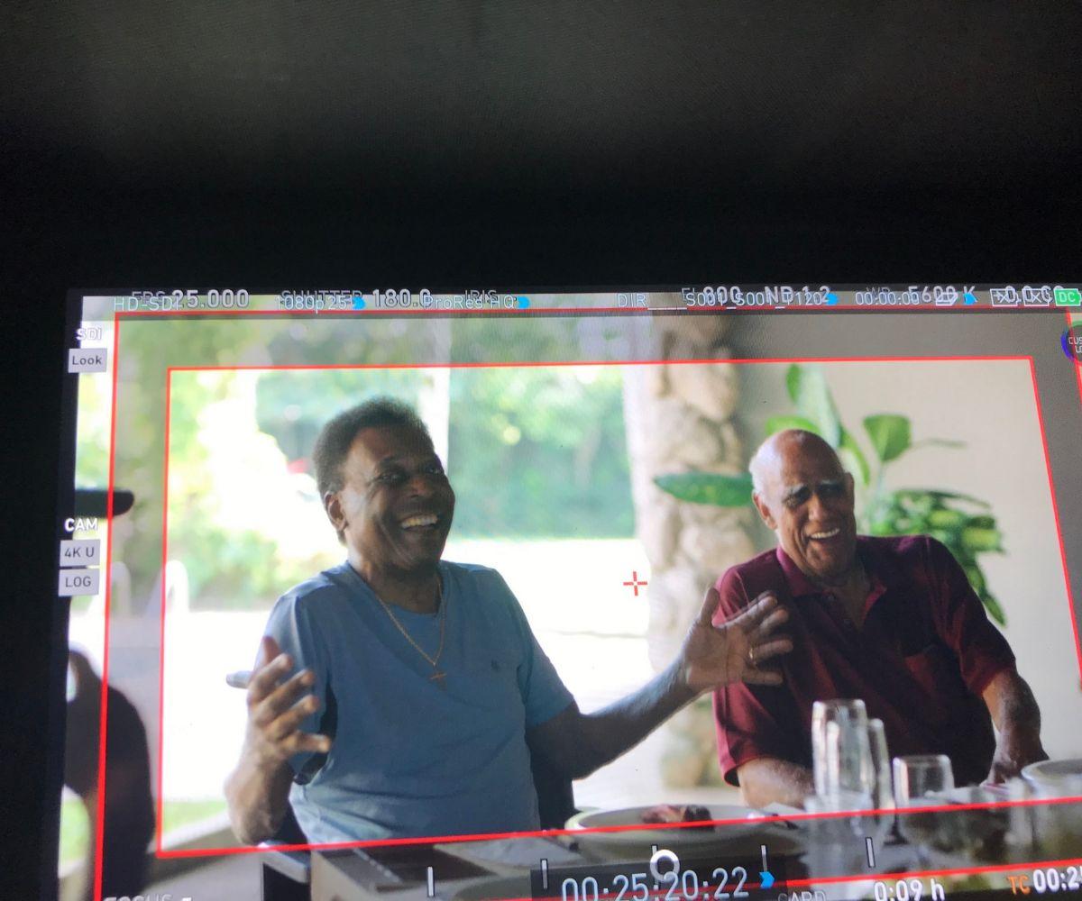 Imagen del rodaje de 'Pelé'.