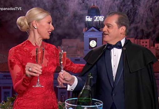 Con Anne Igartiburu en Las campanadas de RTVE.
