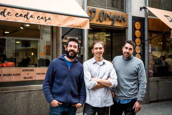 Gon Hierro, Mario Scheffer y Luis Muñoz de Luna, los empresarios detrás de D.Origen.