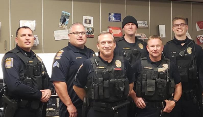 Algunos de los agentes de la Policía de Coolidge, Arizona.