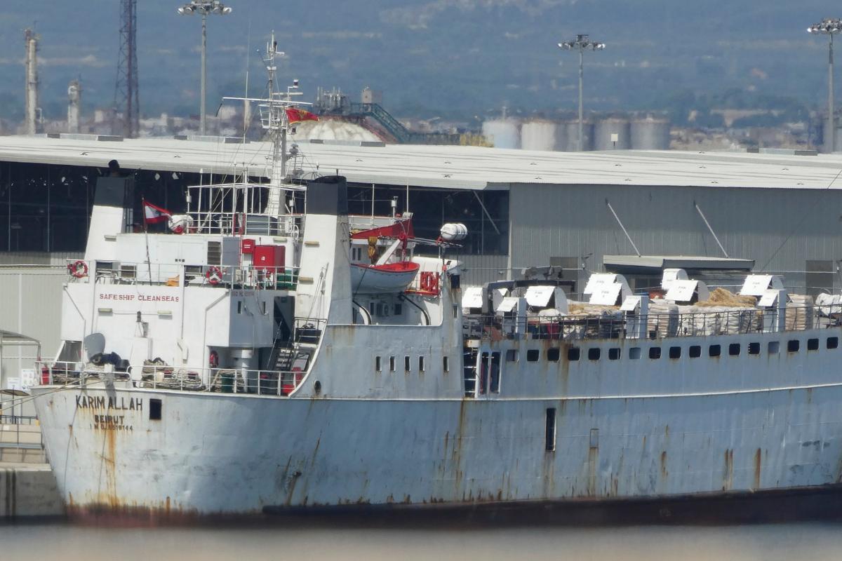 El barco Karim Allah, en agosto de 2020 en Tarragona.