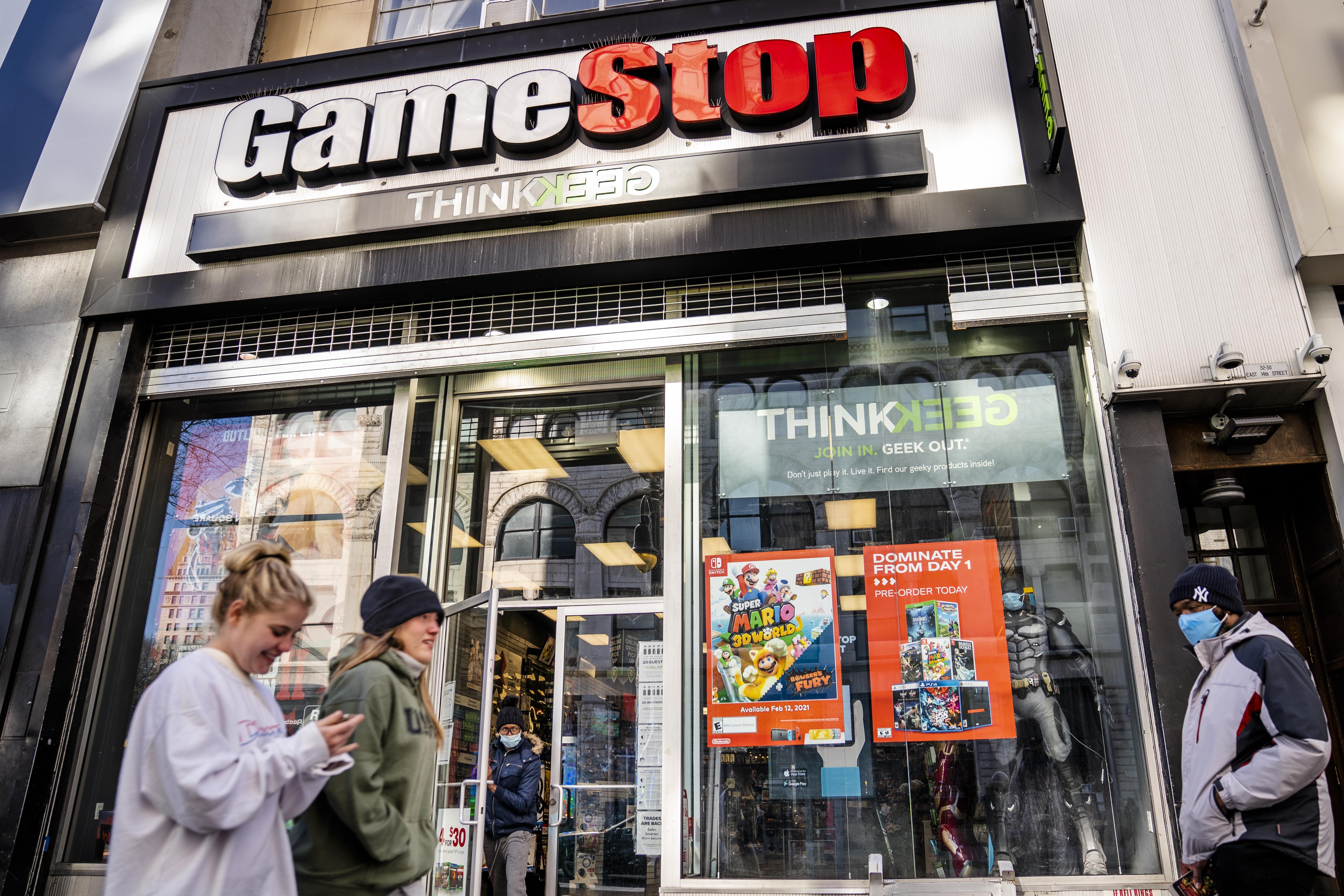Una tienda de Gamestop.