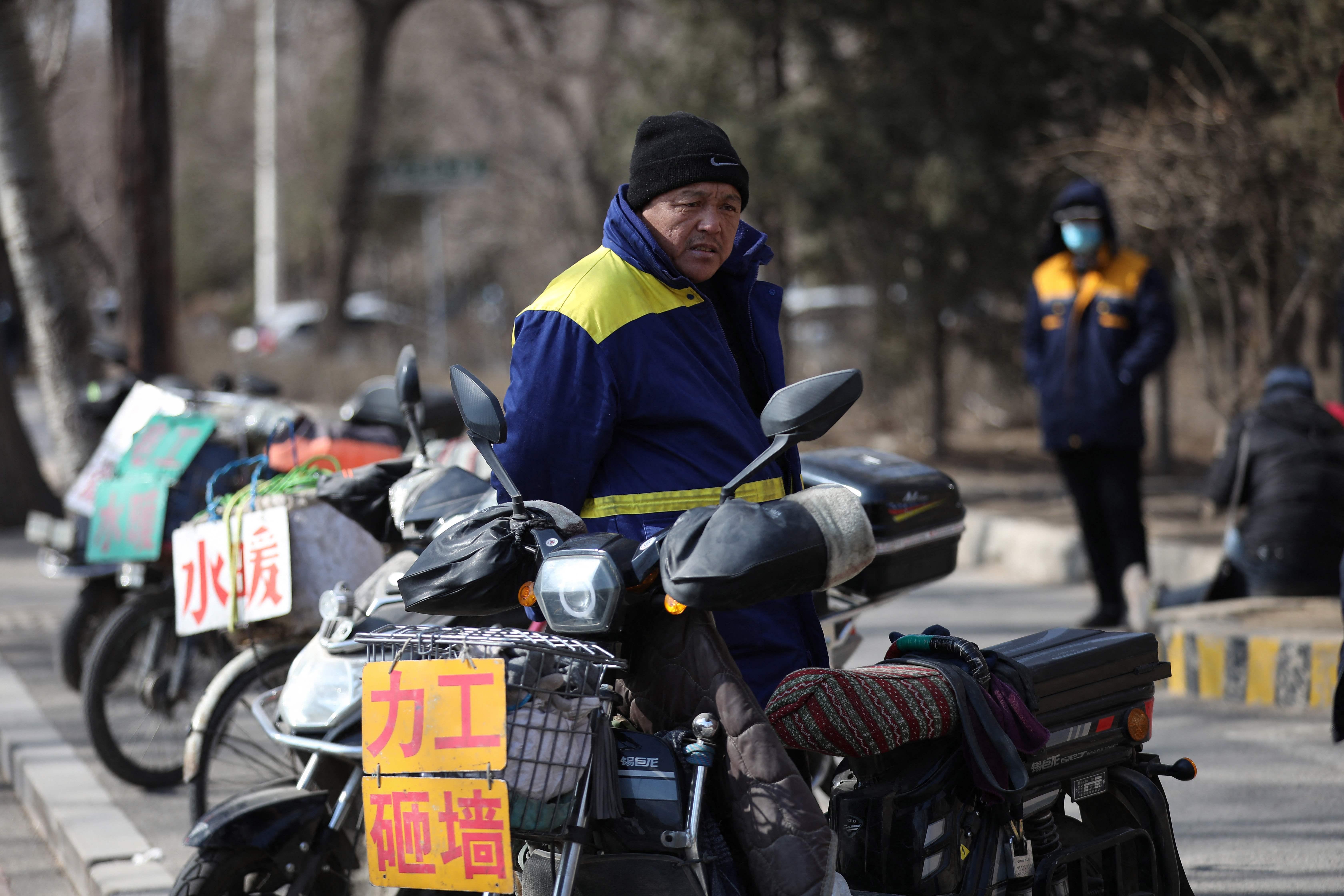 Un trabajador migrante en Liaoning, China.