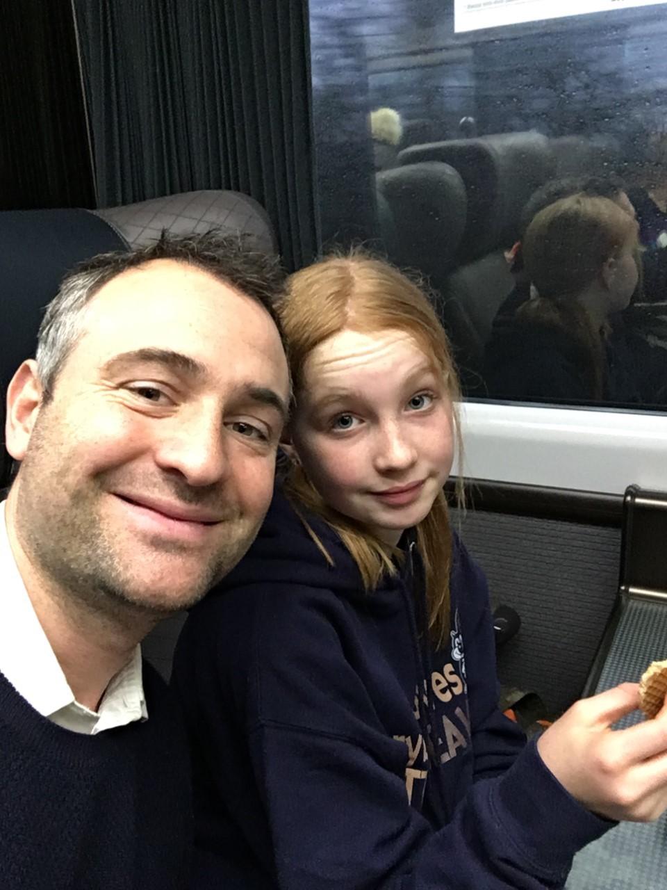 Ben Goldsmith, con su hija Iris