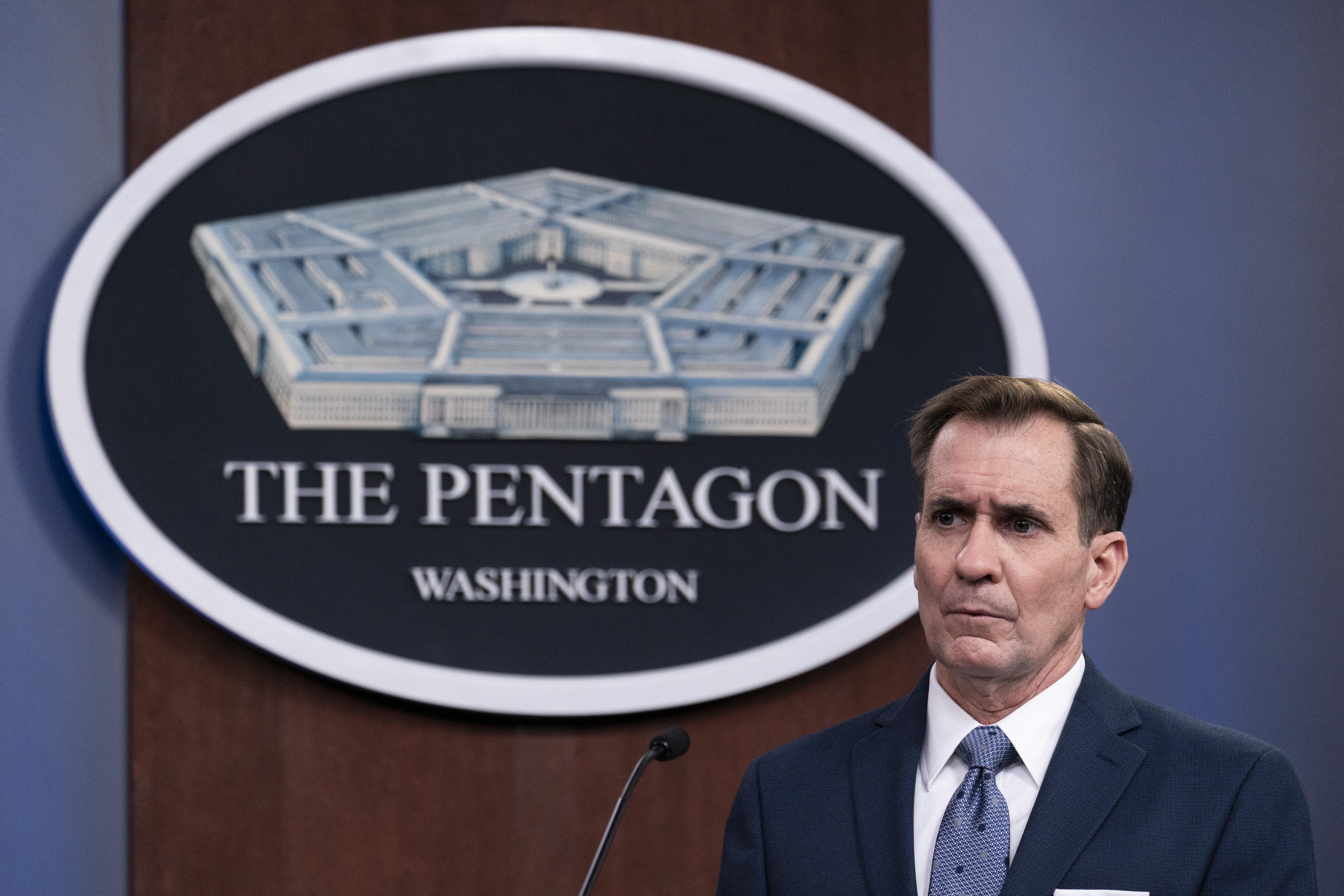 John Kirby, portavoz del Pentágono, en una imagen reciente.