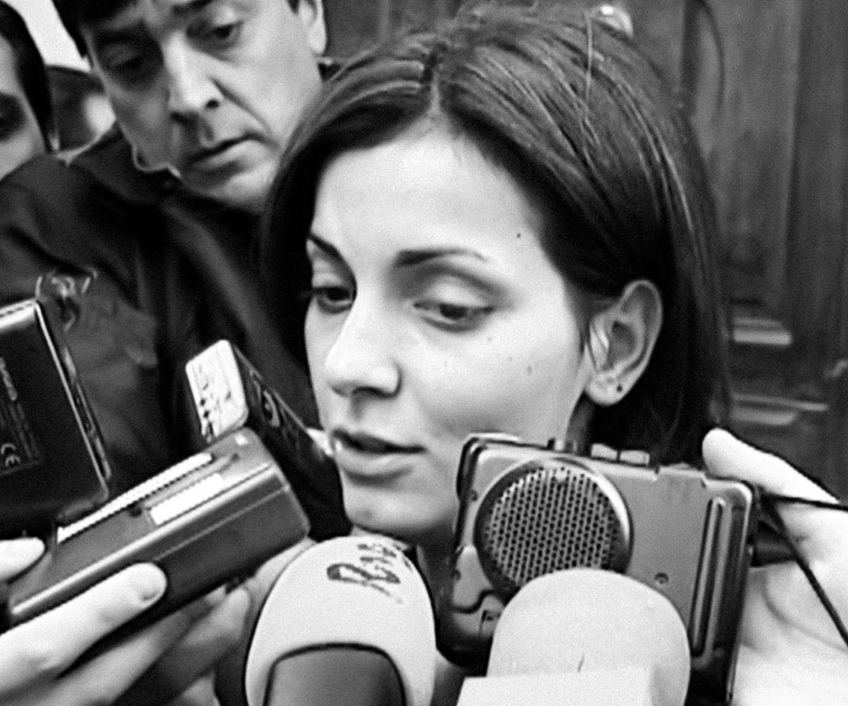 Nevenka Fernández, a la entrada del juicio por acoso sexual.