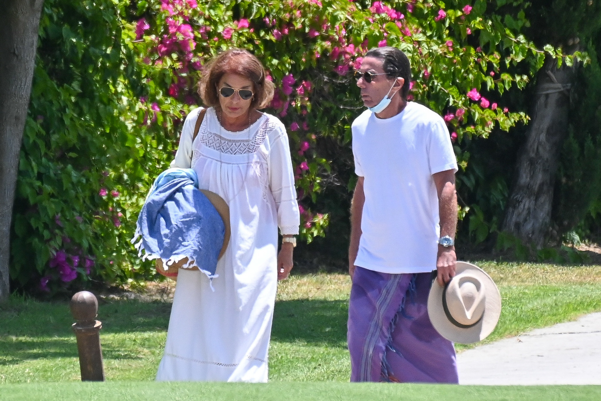 José María Aznar y Ana Botella en Marbella, el pasado junio.