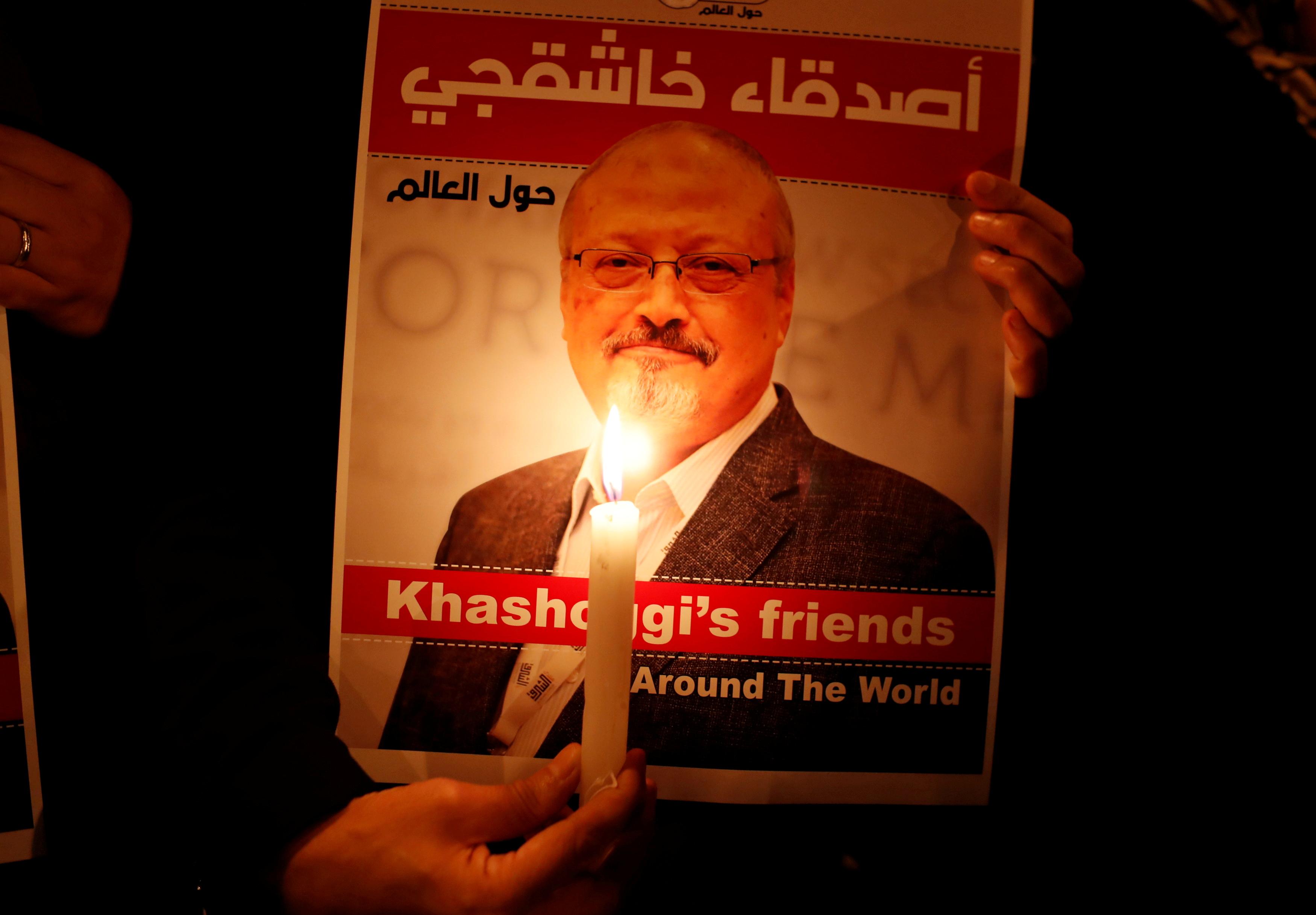 Manifestación por Jamal Khashoggi en Estambul.