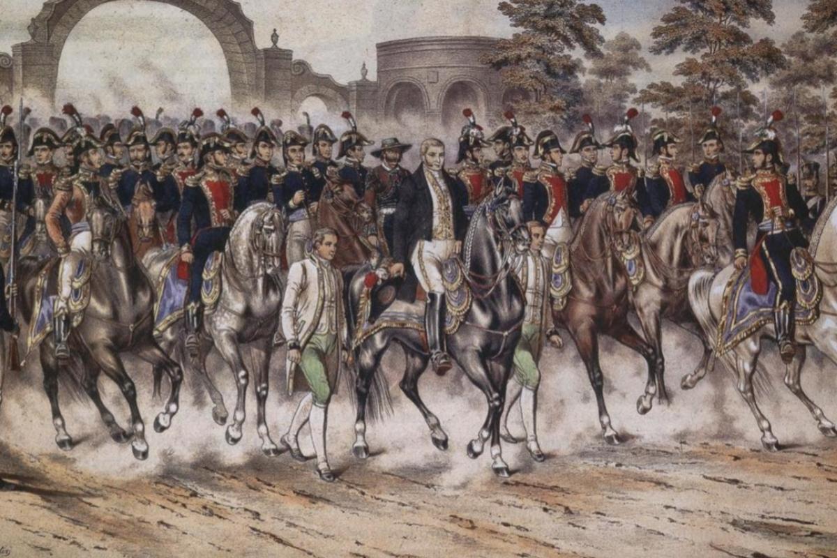 Uno de los ejércitos mexicanos con Ignacio de Iturbe al frente