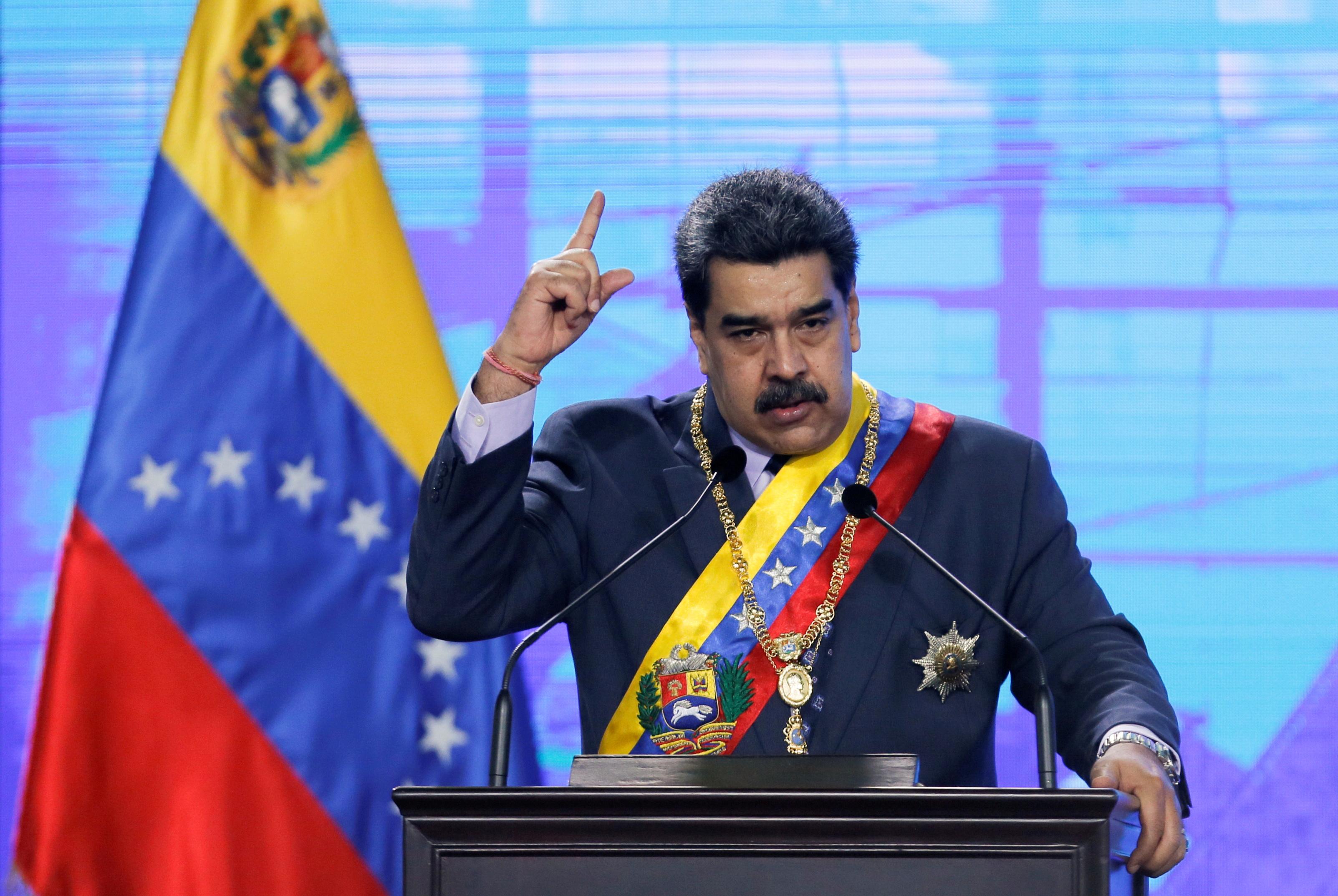 Nicolás Maduro en una ceremonia en Caracas.