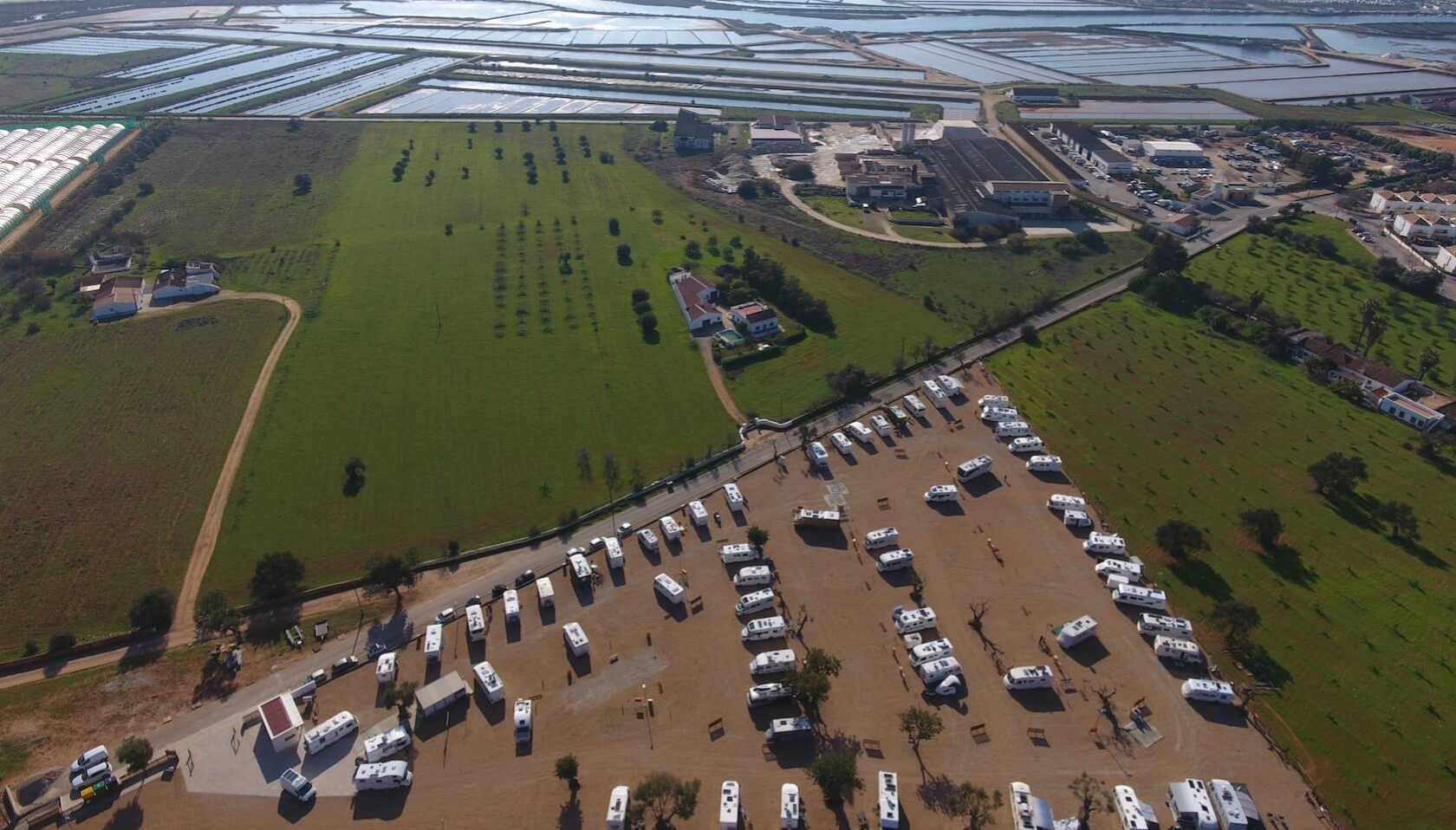 El parque de autocaravanas Algarve Motorhome en Tavira.