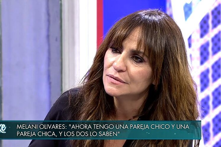 Melani Olivares, durante su intervención este sábado en el Deluxe.