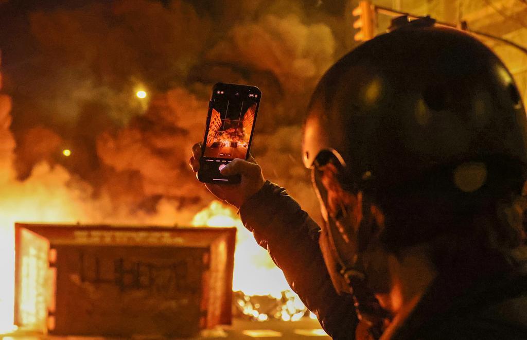 Imagen de los últimos altercados en Barcelona.