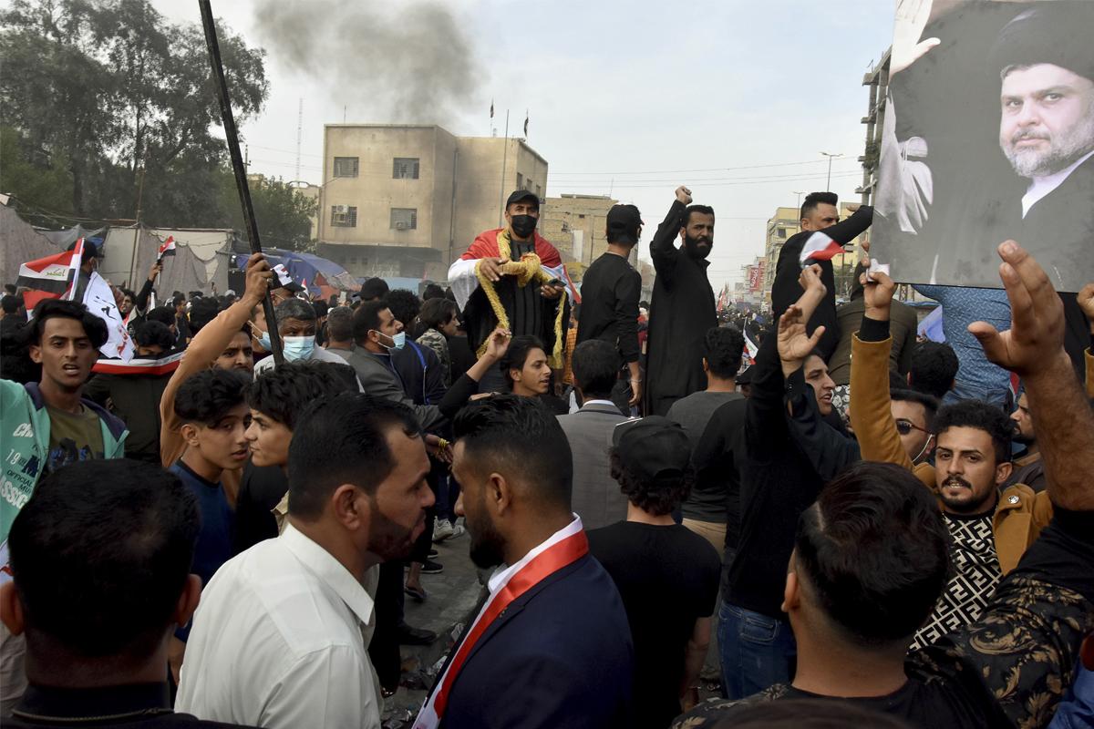 Protestas en Naseriya durante el pasado mes de noviembre.