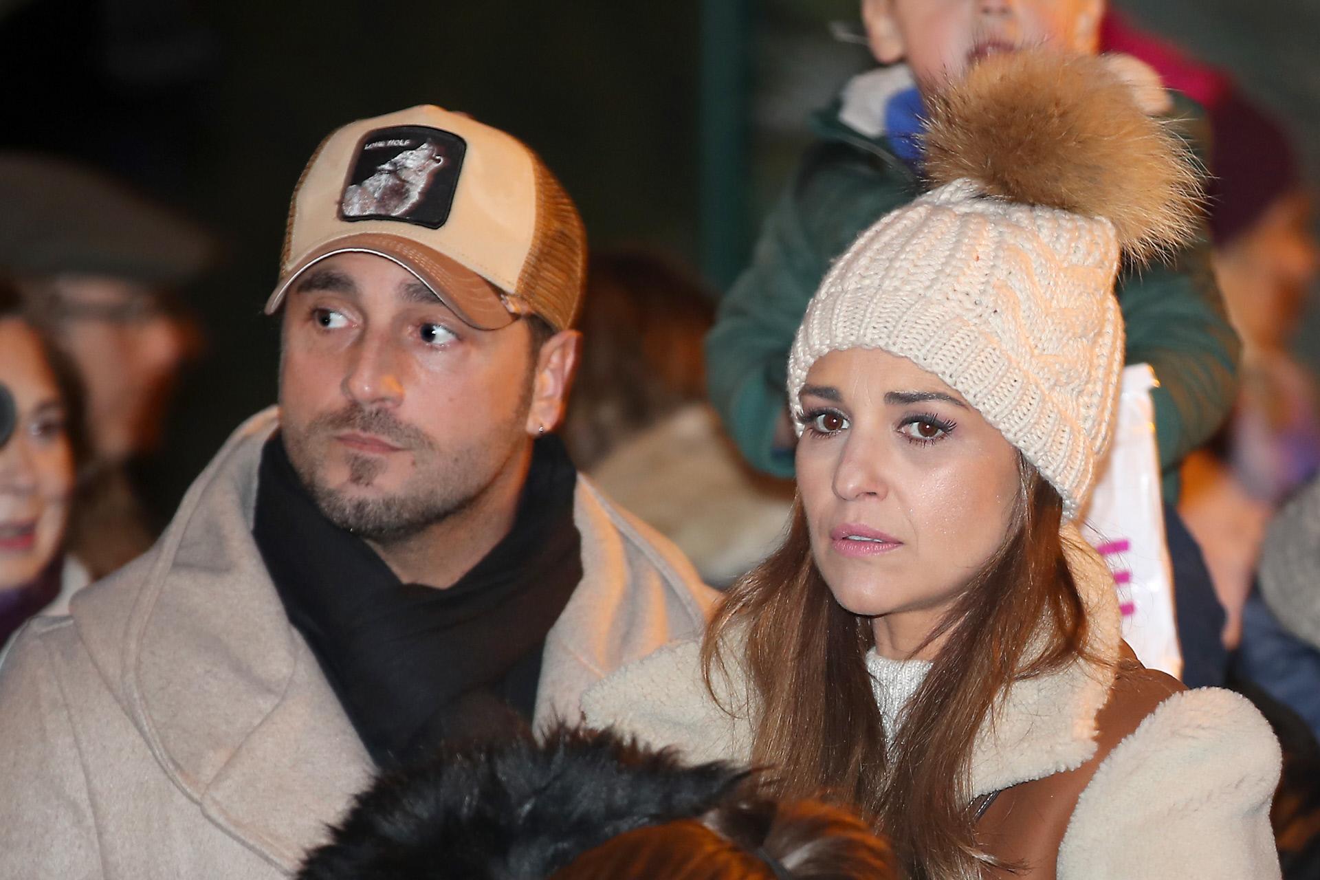 Paula Echevarría y David Bustamante, en la cabalgata de los Reyes Magos, de 2019.