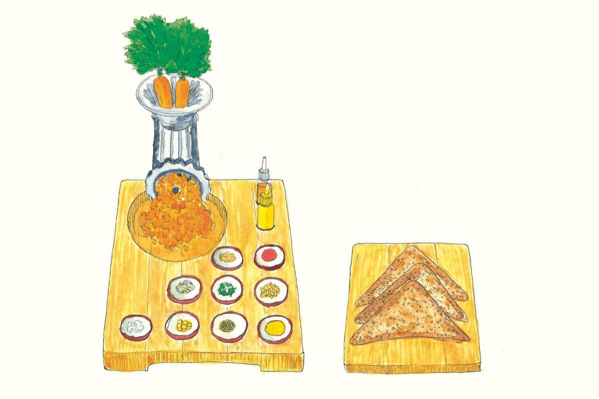 Tartar de zanahoria, de Daniel Humm.