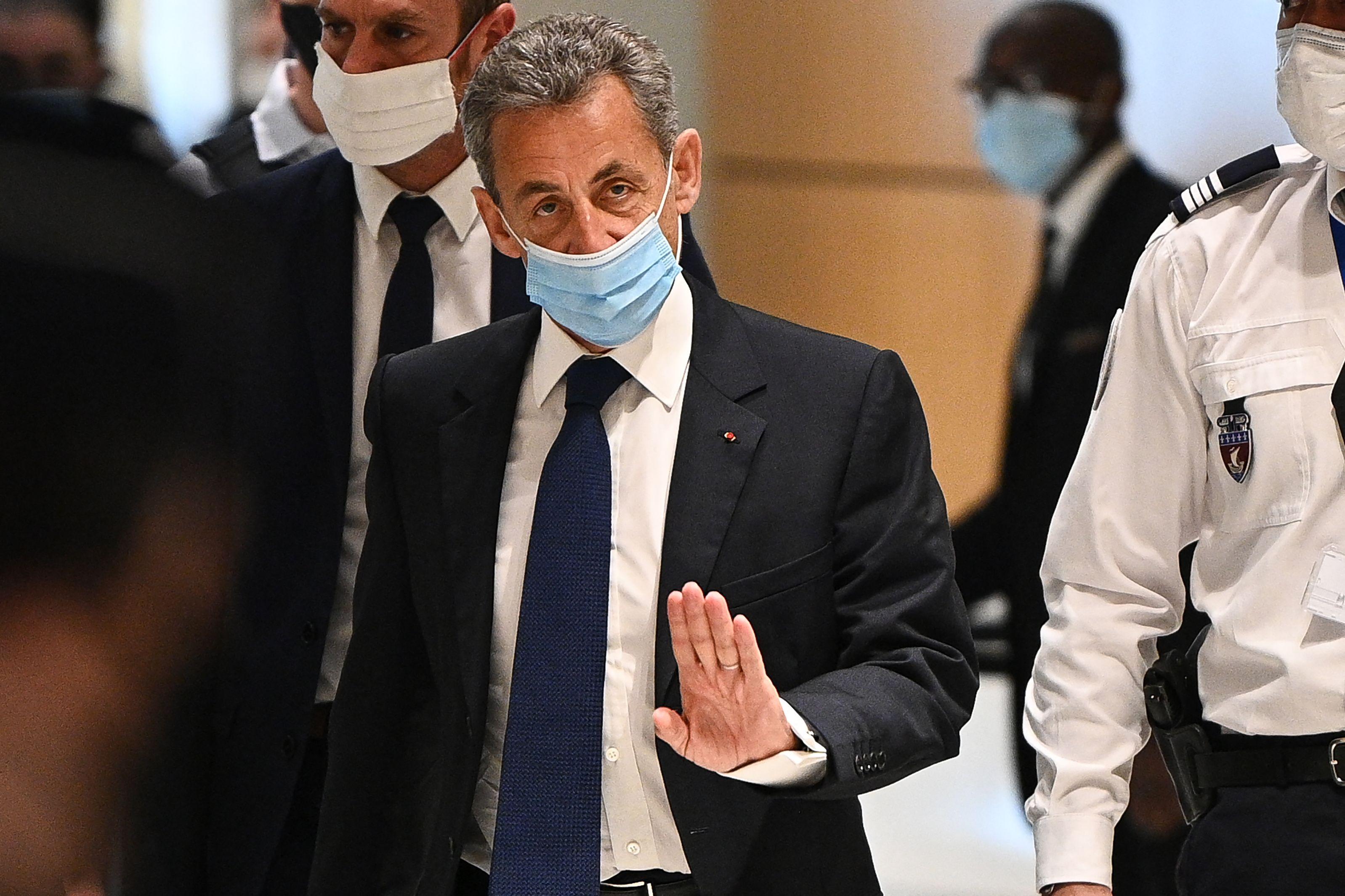 Nicolas Sarkozy, en el juzgado.