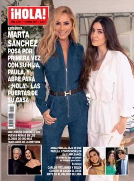 Marta Sánchez despixela a su hija con una exclusiva