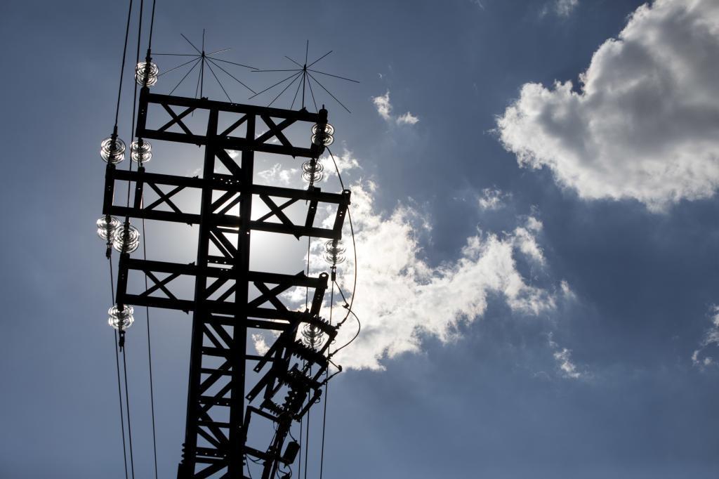 Torre de alta tensión.