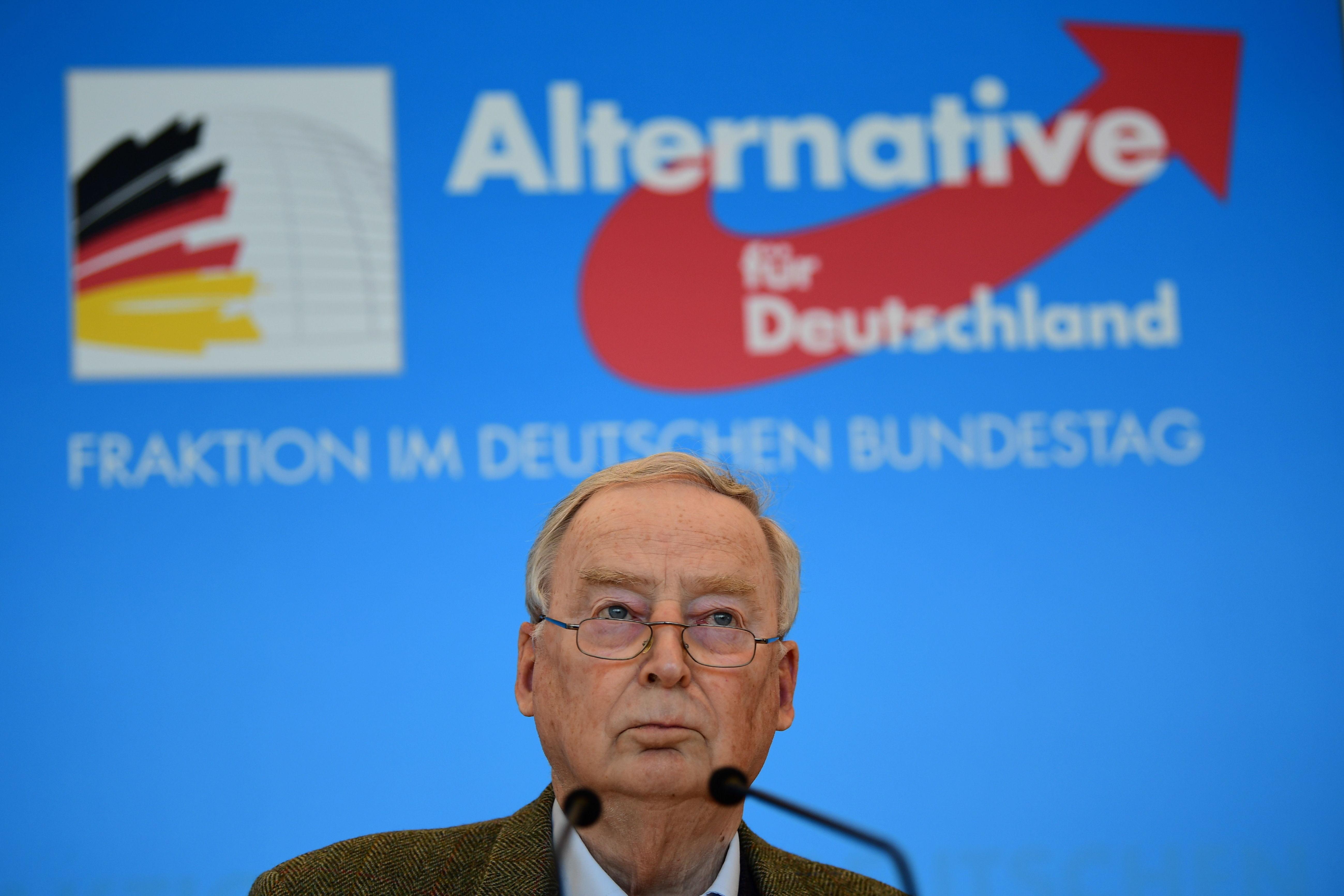 Líder de la AfD en el Parlamento alemán, Alexander Gauland, ayer, en Berlín.