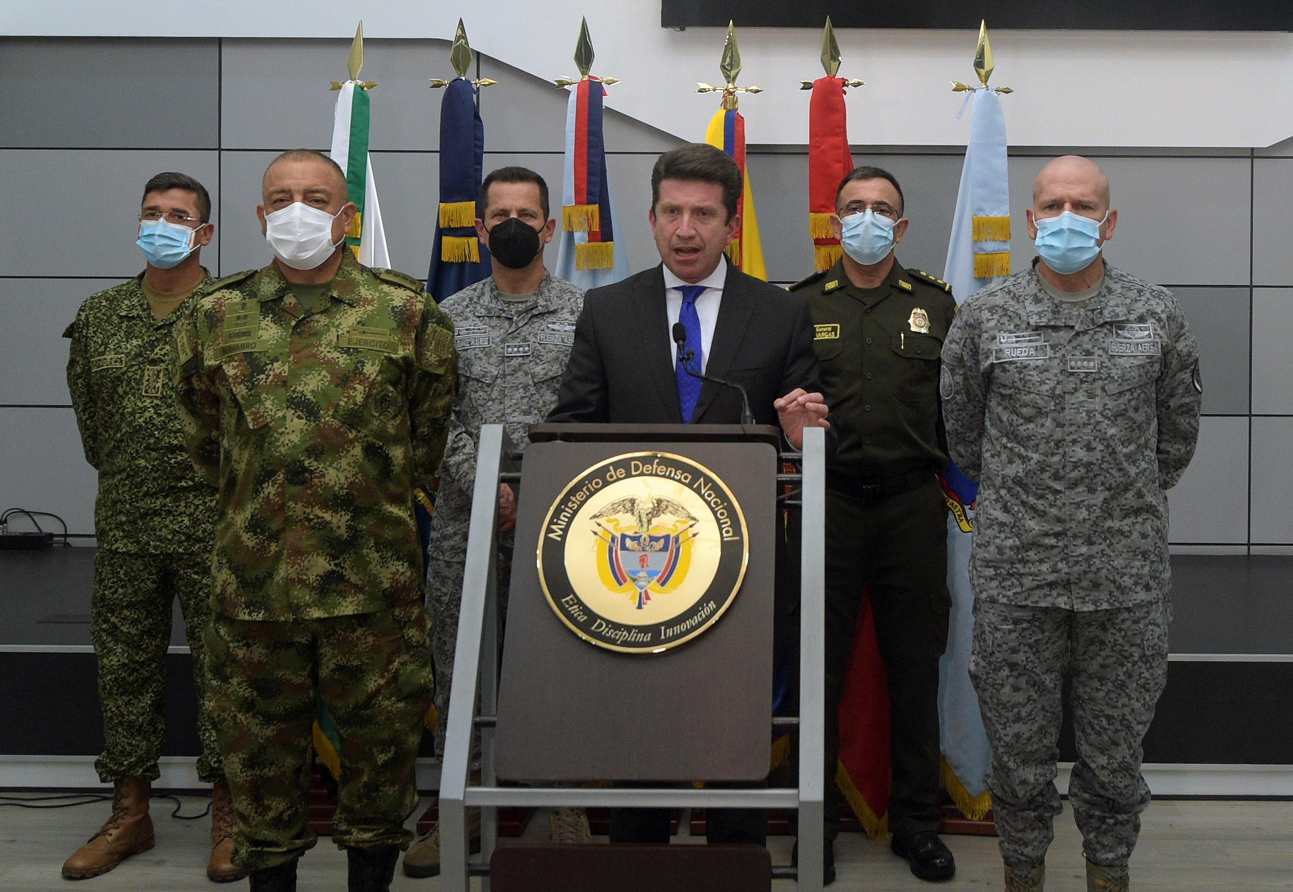 El ministro de Defensa colombiano, Diego Molano, este martes.