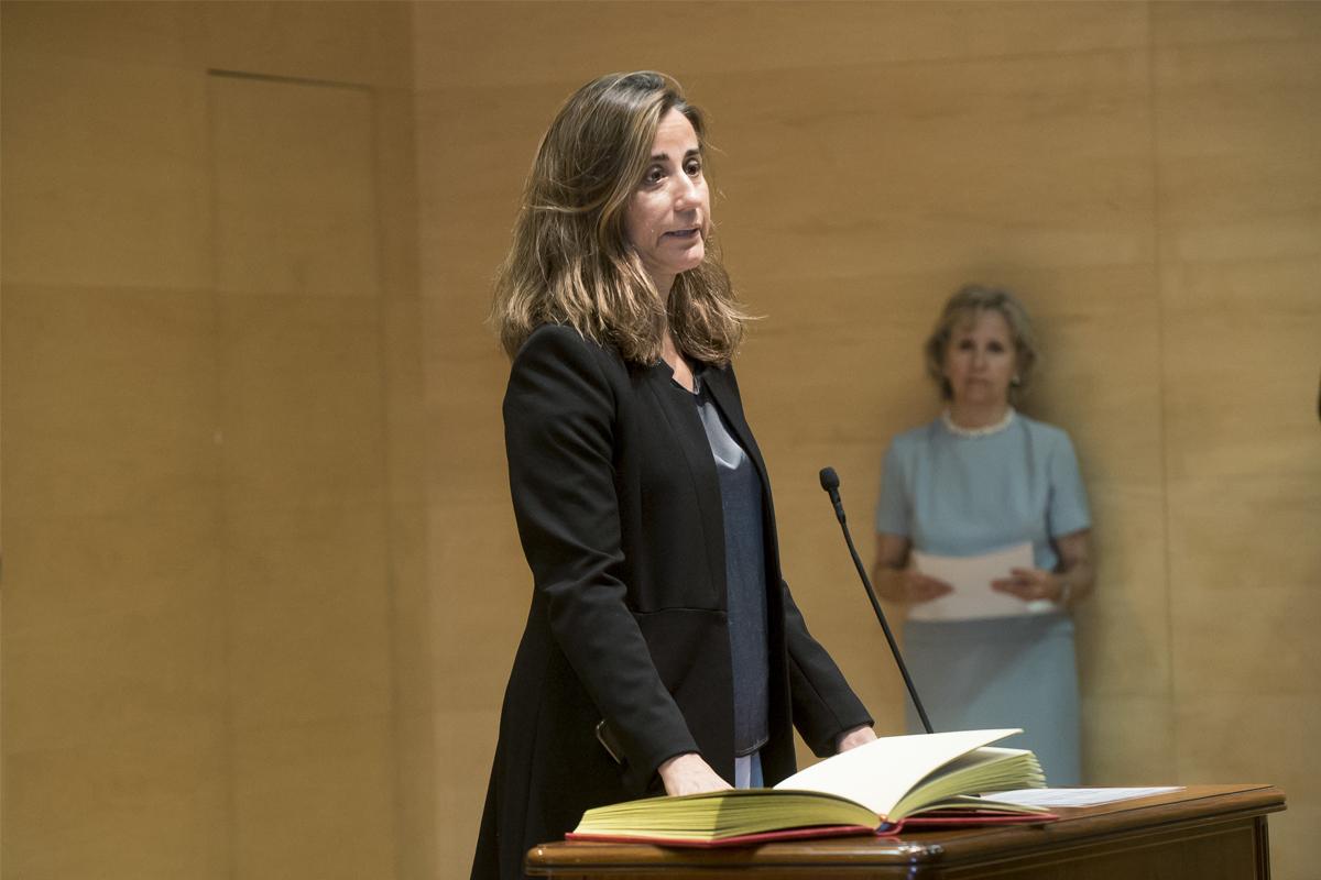 Carmen Balsa, directora de gabinete de la vicepresidenta económica, Nadia Calviño, durante su toma de posesión.