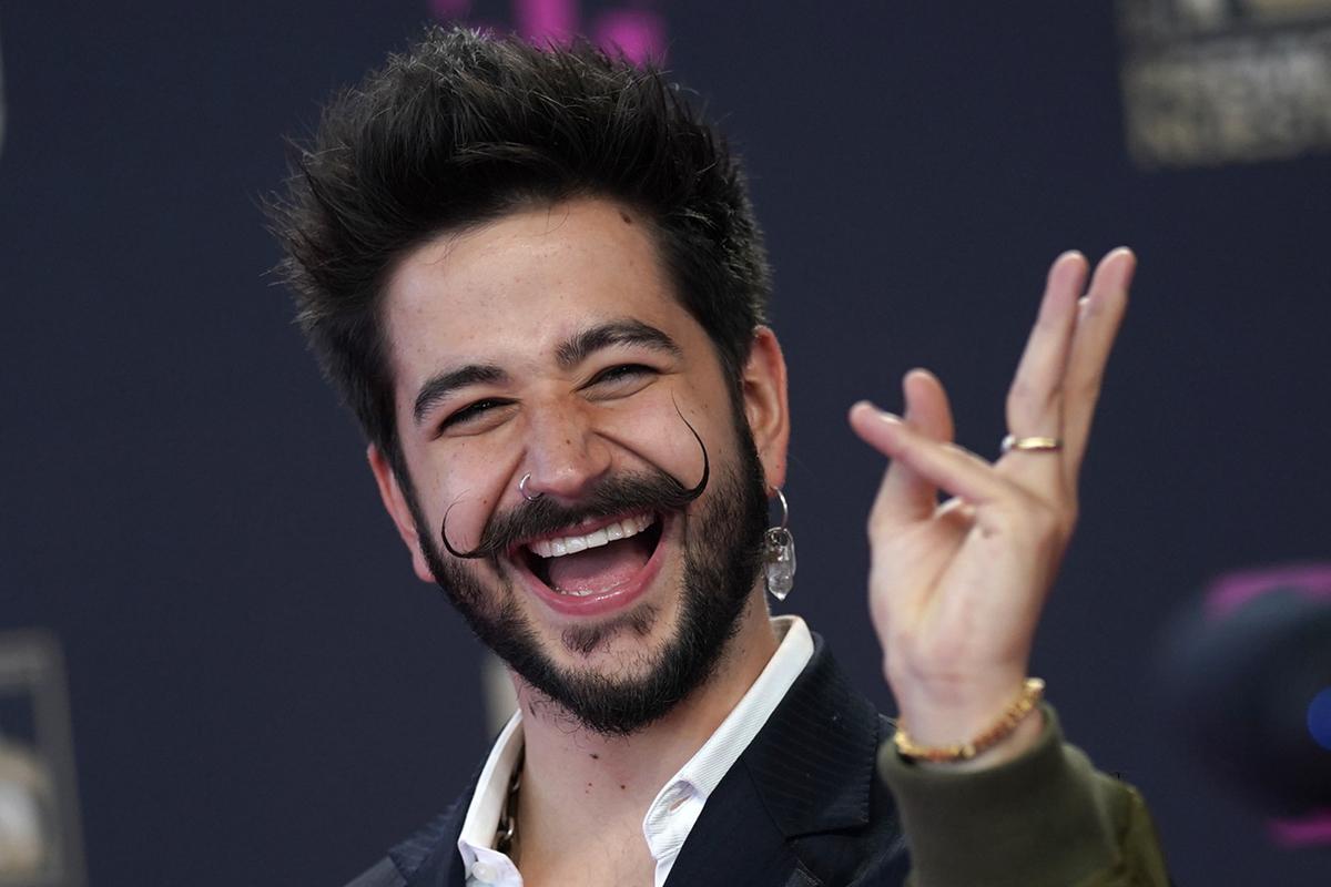 El cantante Camilo, en los Premios Lo Nuestro.