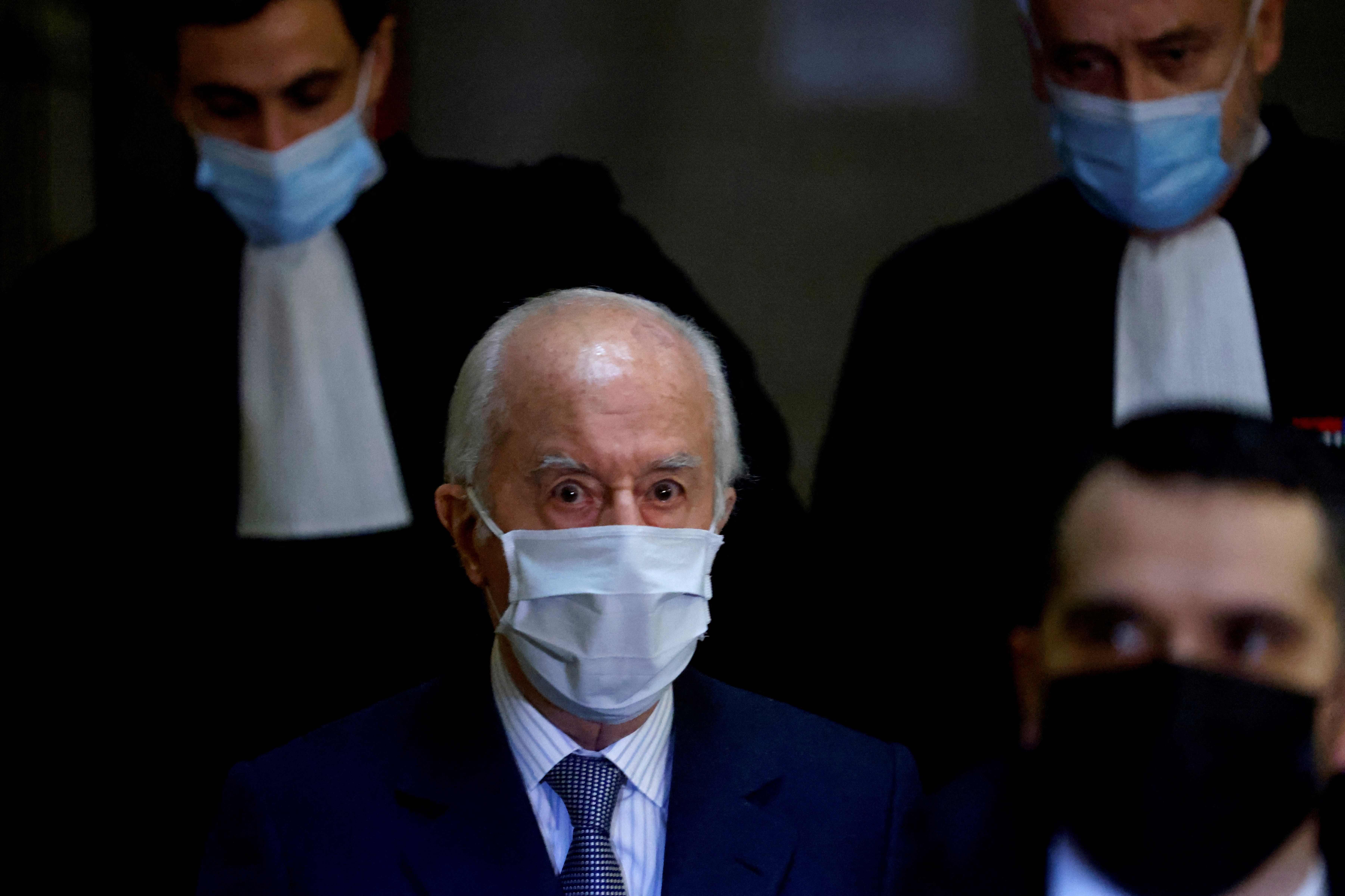 Édouard Balladur, en su llegada al juicio el pasado mes de enero.