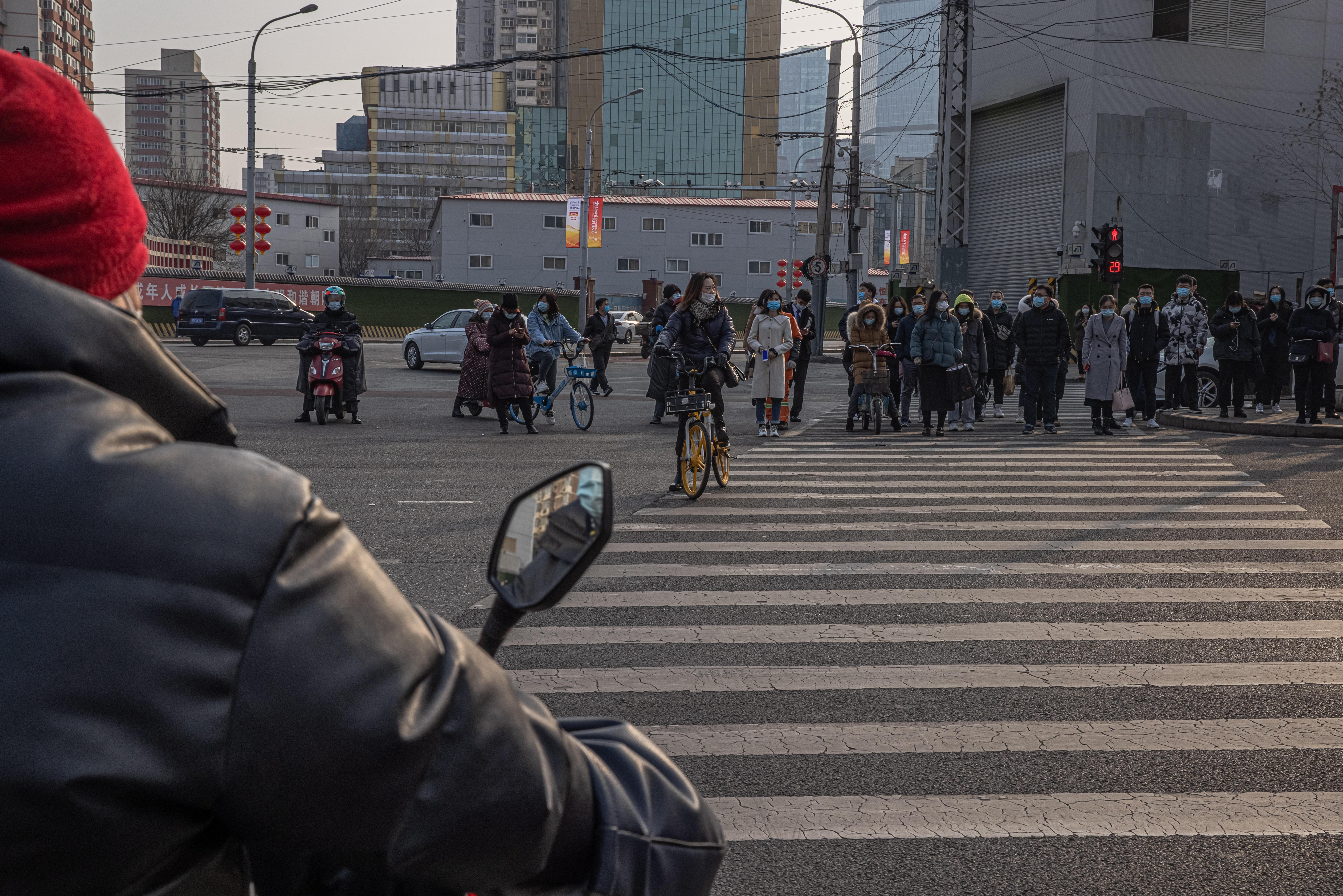 Un paso de cebra en Pekín China.