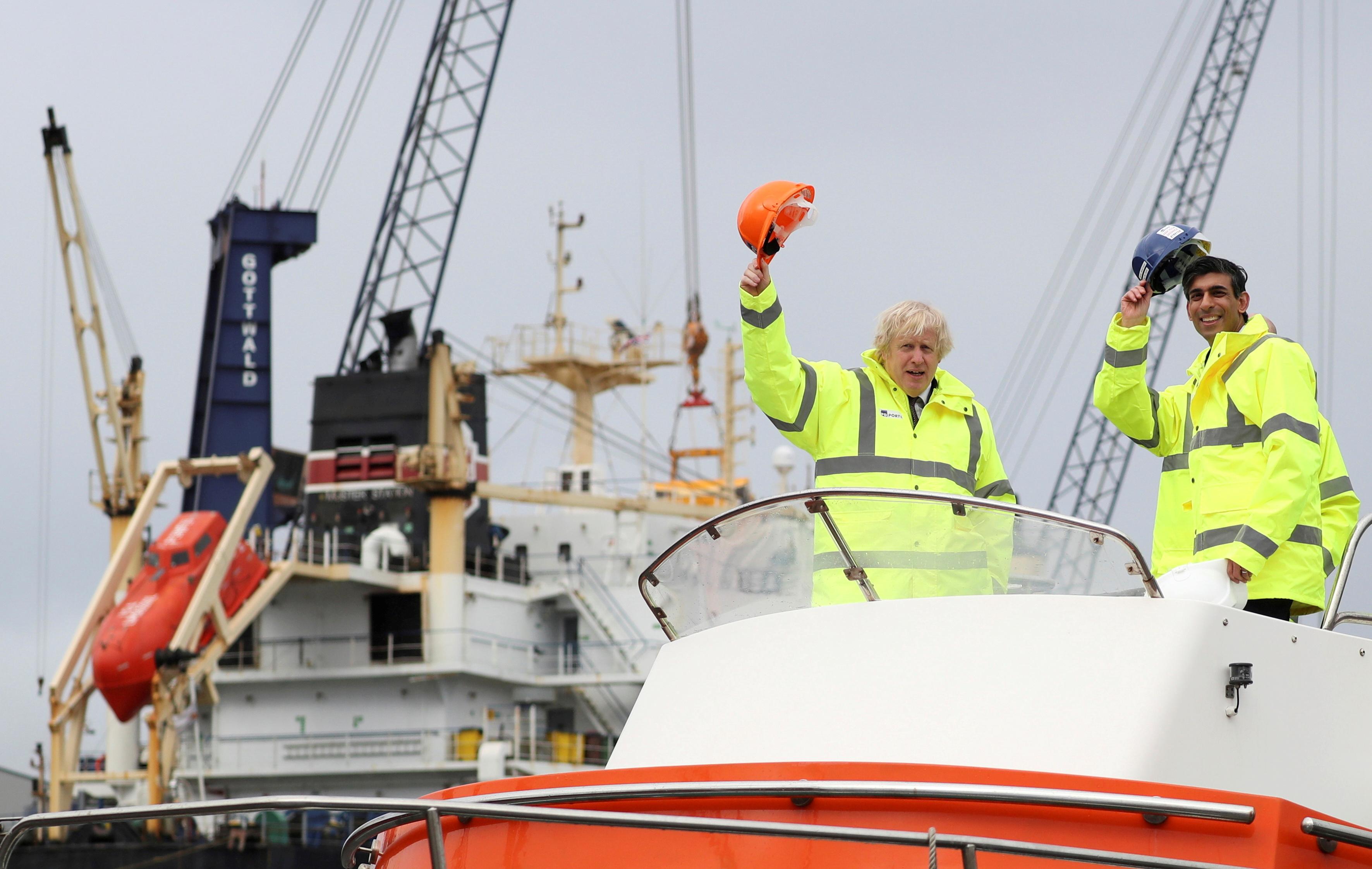 Boris Johnson, durante una visita hoy al noreste de Inglaterra.