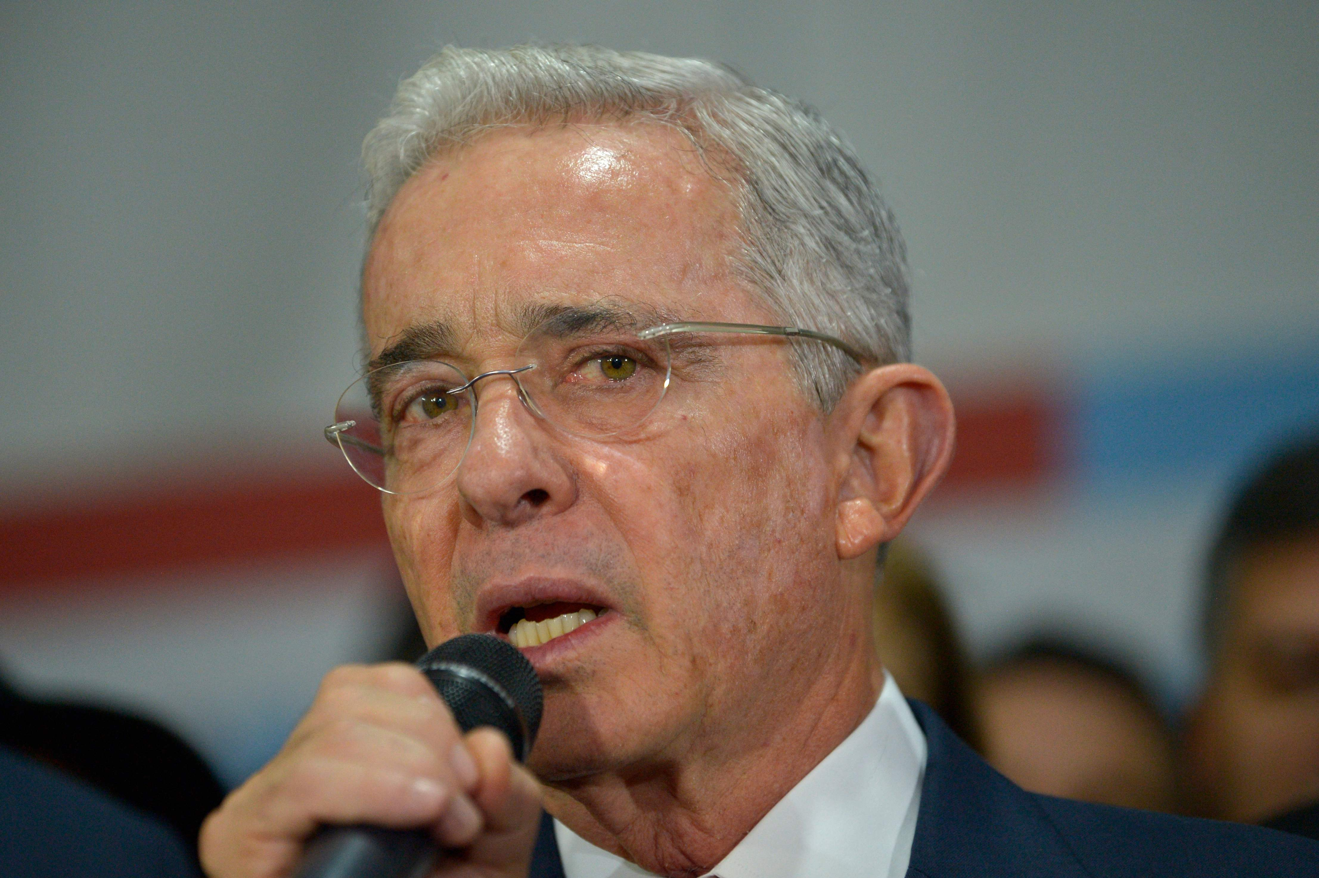 El ex presidente colombiano Álvaro Uribe, en 2019.