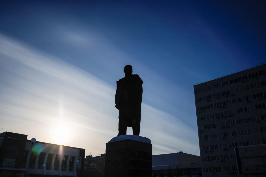 Monumento a Lenin en Bratsk, en la región rusa de Irkutsk.
