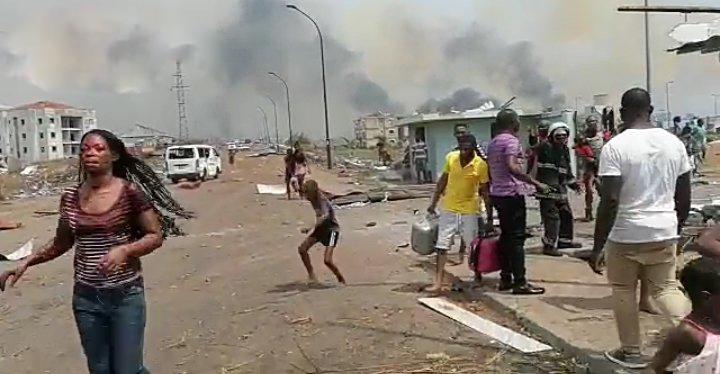 Exteriores del cuartel donde se han producido las explosiones.