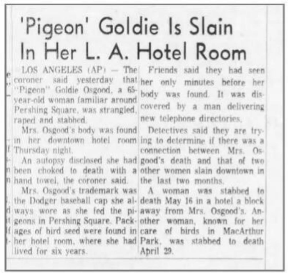 Nota en la prensa de la época sobre uno de los suicidios del Cecil.