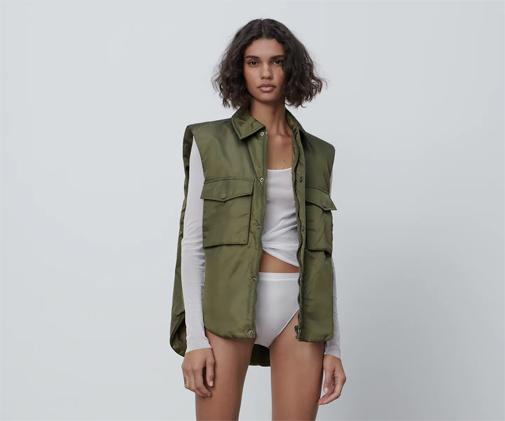 Chaleco acolchado de la colección Limited Edition de Zara.