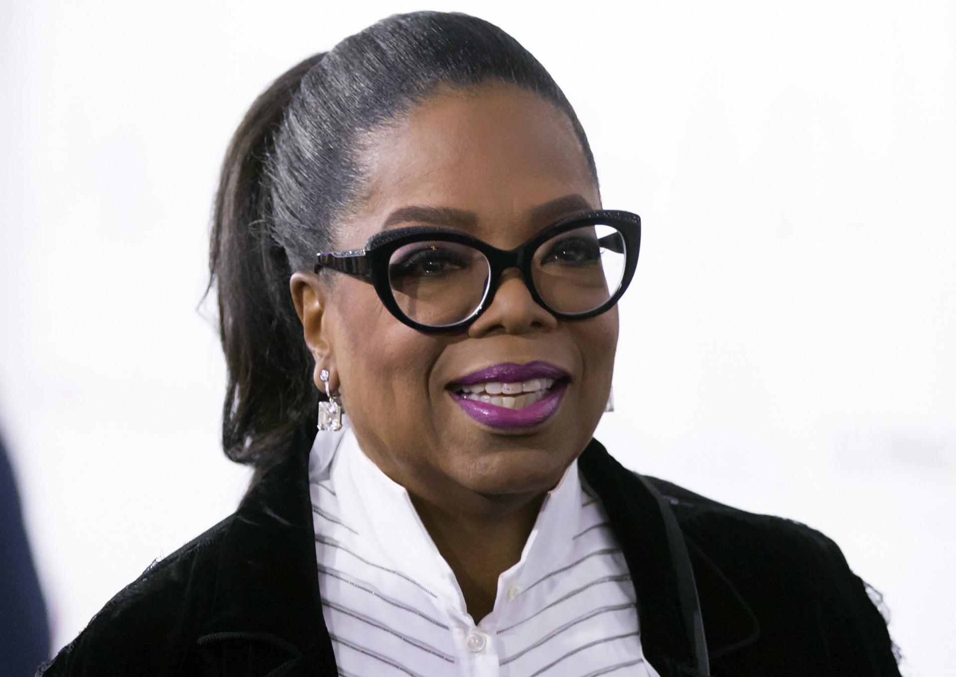 La presentadora norteamericana Oprah Winfrey.