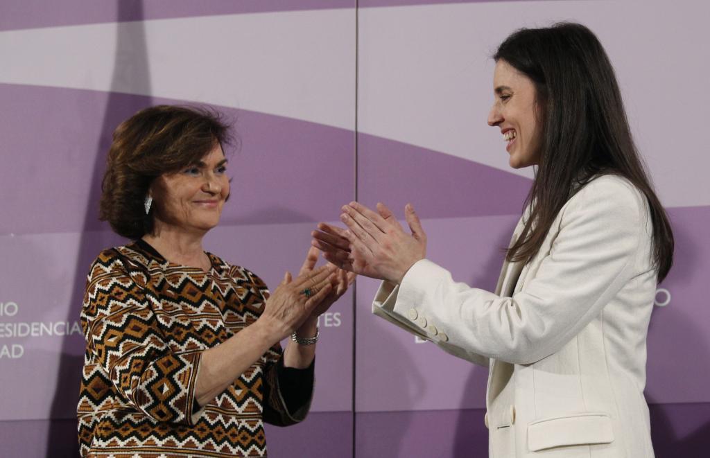 Carmen Calvo e Irene Montero, en un acto conjunto.