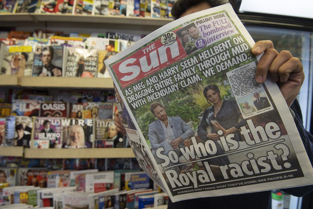 Portada del británico 'The Sun' con una imagen de la entrevista.