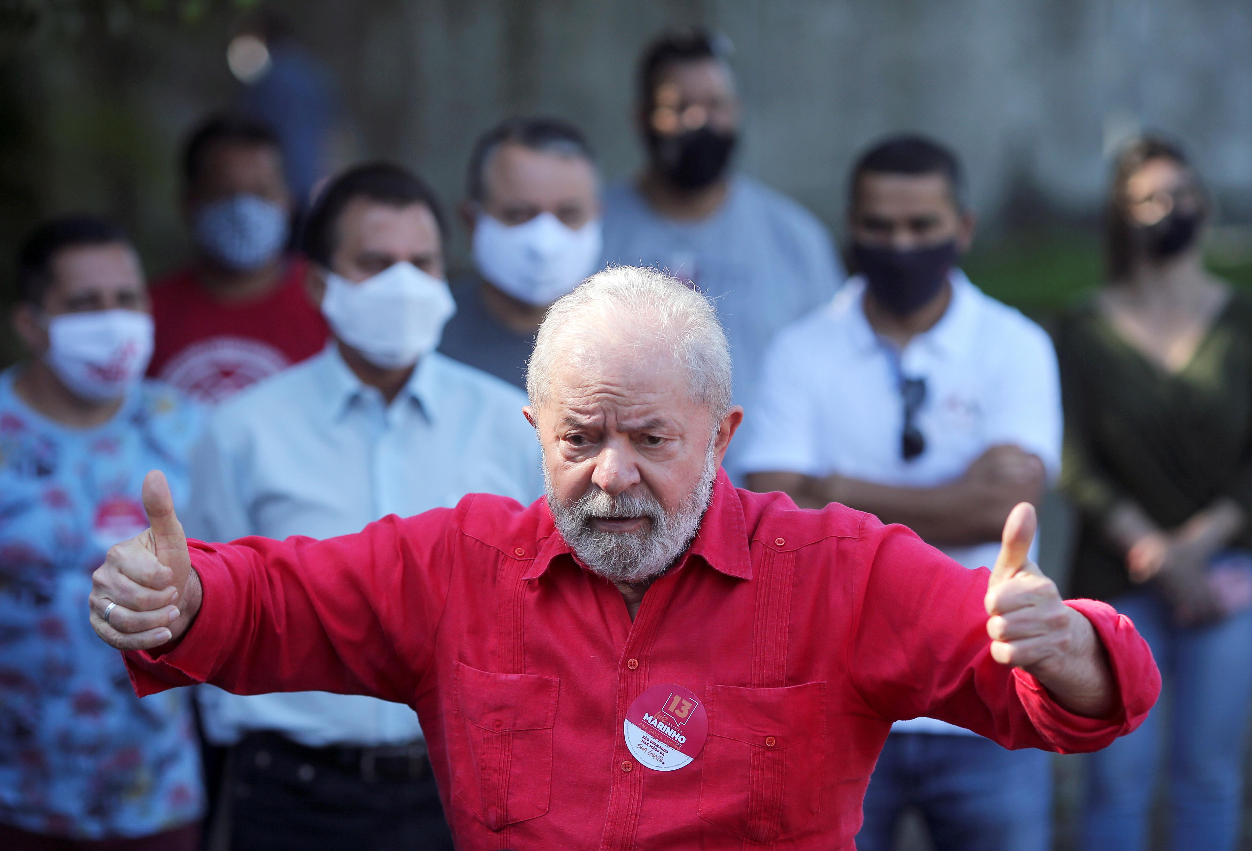 El ex presidente brasileño Lula da Silva en noviembre del año pasado.