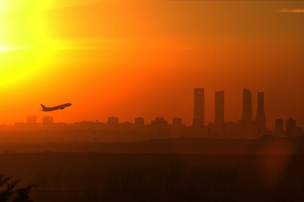 Vistas de Madrid desde el Mirador de Paracuellos.