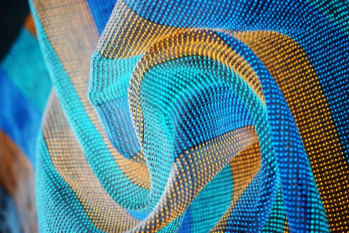 Un tejido de pantalla multicolor