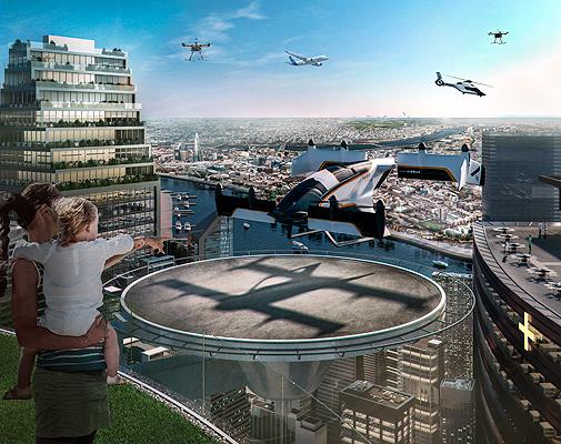 Vahana es el prototipo de taxi volador de Airbus, un vehículo eléctrico autónomo.